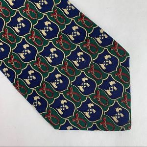 BROOKS BROTHERS Scottie Dog Leash 100% Silk Tie